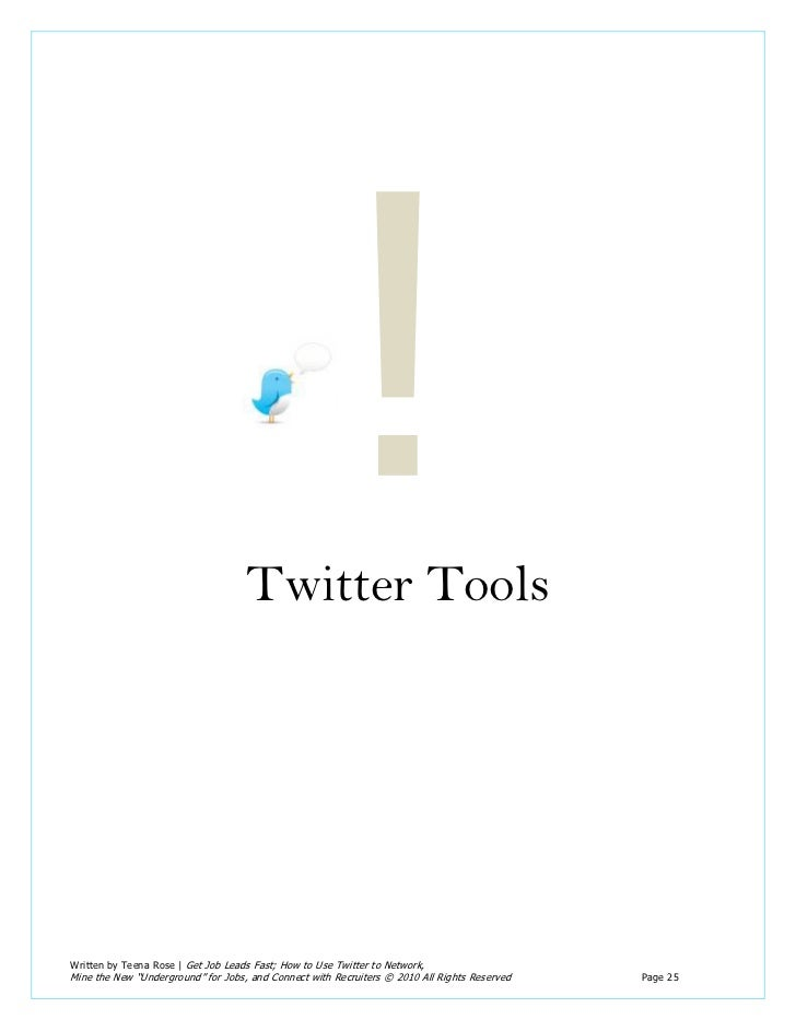 E-book] Get Job Leads Fast Using Twitter