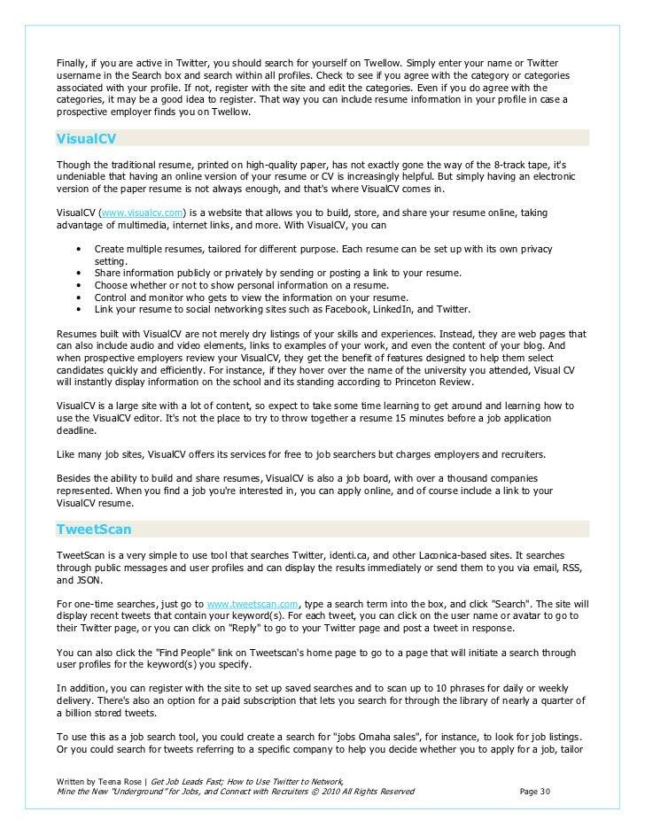 job lead - Qa Lead Resume