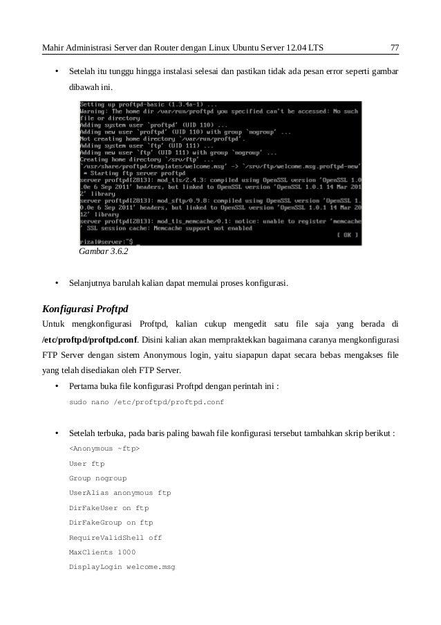 Install dan konfigurasi FTP(vsftpd) pada ubuntu 14.04