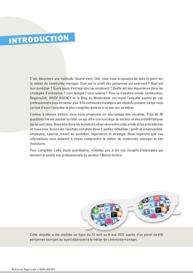 Les Community Managers en France - Édition 2013 Slide 2
