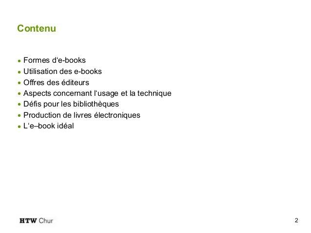 Le e-book dans les Hautes Ecoles Slide 2