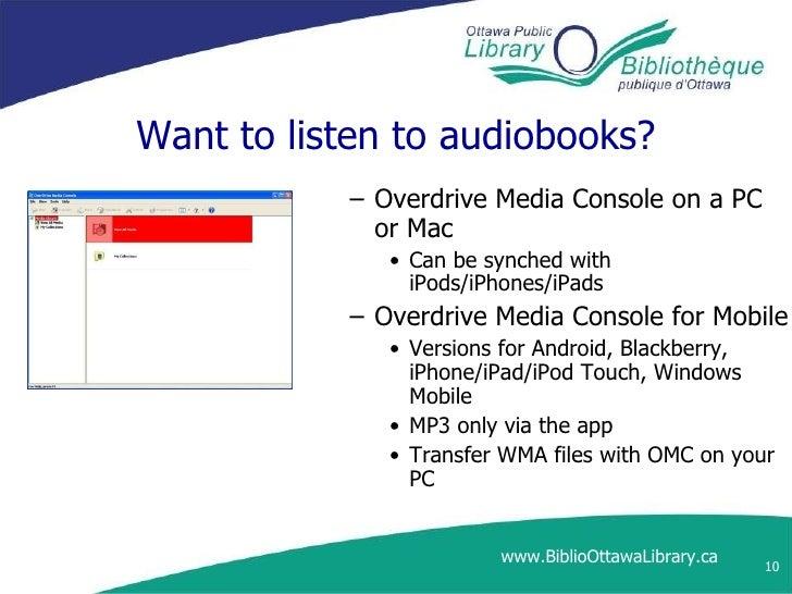 E books, audiobooks and opl