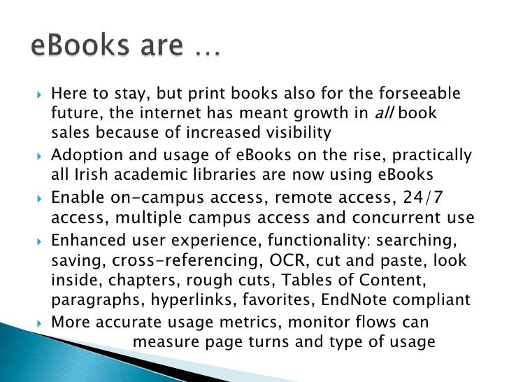 E books in academic libraries a briefing paper bundling solutions did not meet needs fandeluxe Image collections