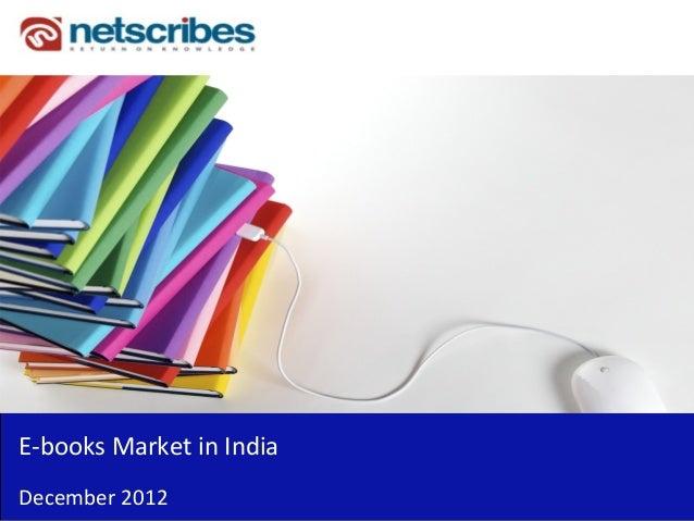 E‐booksMarketinIndiaDecember 2012