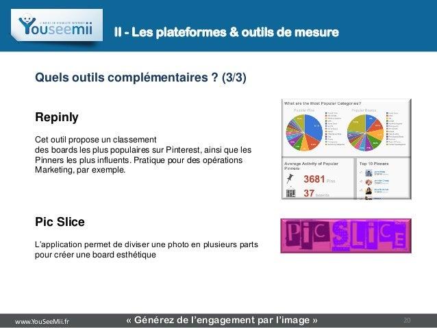 II - Les plateformes & outils de mesure     Quels outils complémentaires ? (3/3)     Repinly     Cet outil propose un clas...