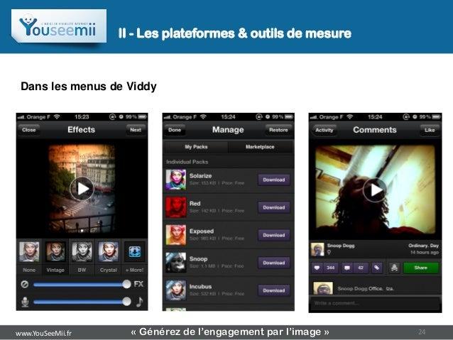 II - Les plateformes & outils de mesure Dans les menus de Viddywww.YouSeeMii.fr     « Générez de l'engagement par l'image ...