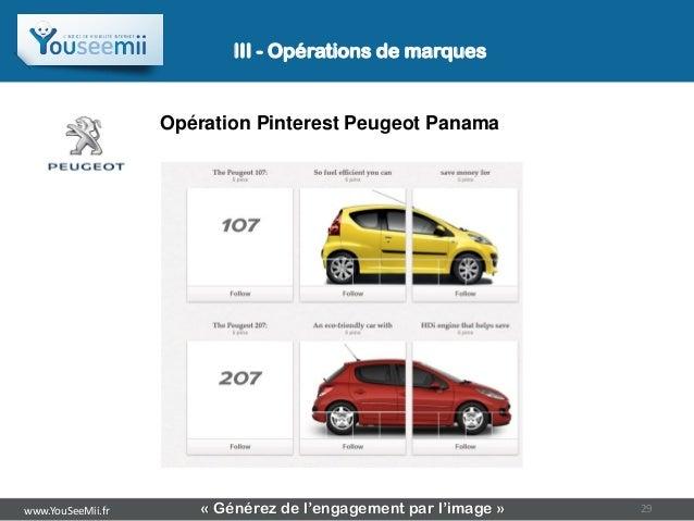 III - Opérations de marques                   Opération Pinterest Peugeot Panamawww.YouSeeMii.fr       « Générez de l'enga...