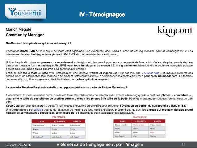 IV - TémoignagesMarion MeggléCommunity ManagerQuelles sont les opérations qui vous ont marqué ?L'opération #IAMLEVIS de la...