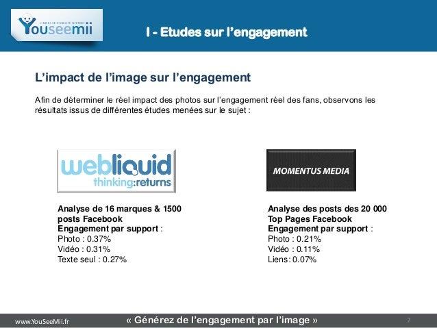 I - Etudes sur l'engagement     L'impact de l'image sur l'engagement     Afin de déterminer le réel impact des photos sur ...