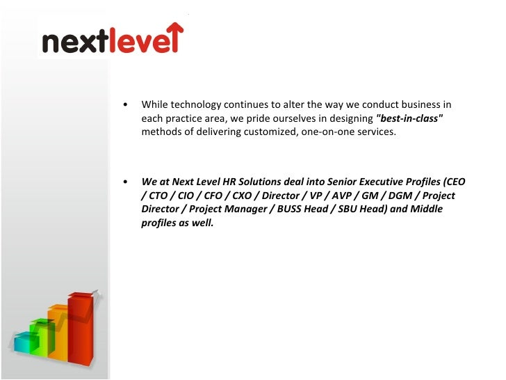 <ul><li>As a leading HR Consulting & Executive Search Firm in India, Next level helps its clients grow through innovative ...