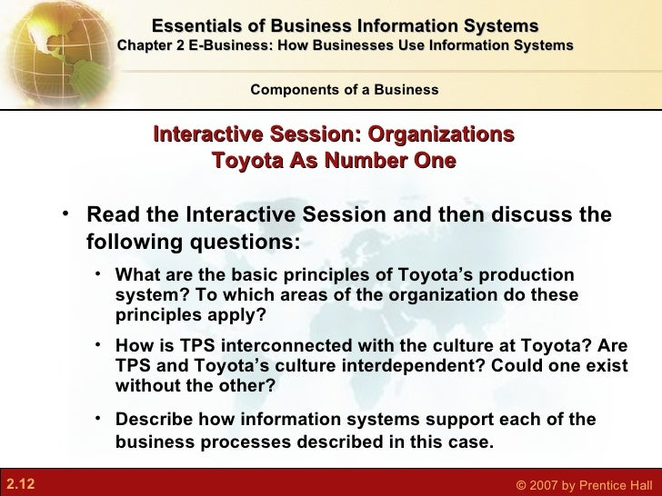 business driven information systems chapter 12 closing case one Through uml 20, the new standard for object-oriented analysts and design, as   need for new or revised information systems to support business processes   cases, chapter 5 covers process models, and chapter 6 explains data models   the implementation phase is presented in chapters 12 and 13.