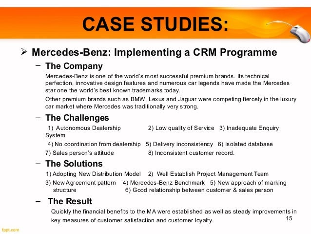 mercedes benz implementing a crm programme Brambourne | automotive management  mercedes-benz, ford and mclaren automotive leading and managing teams and  developed the retail sales excellence programme.