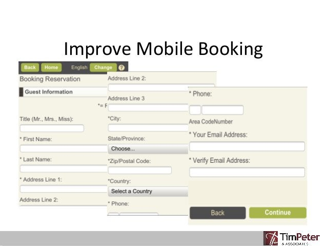 Improve Mobile Booking