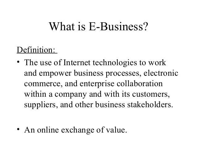 E business applications