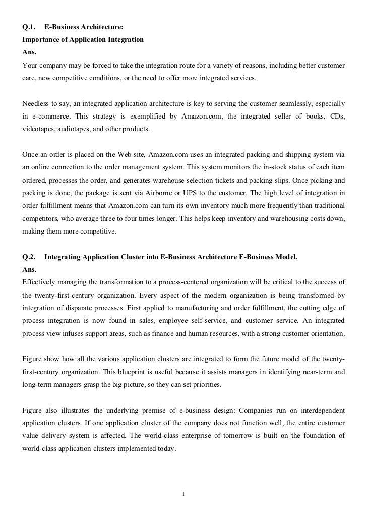E business architecture final copy for E business architecture