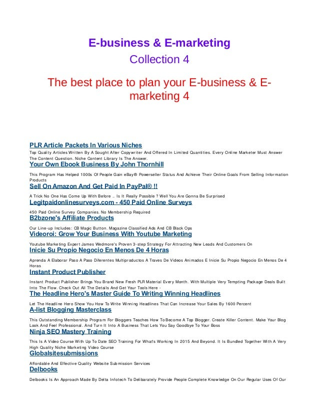 E business e marketing 4 e business e marketing collection 4 the best place to plan your e fandeluxe Images