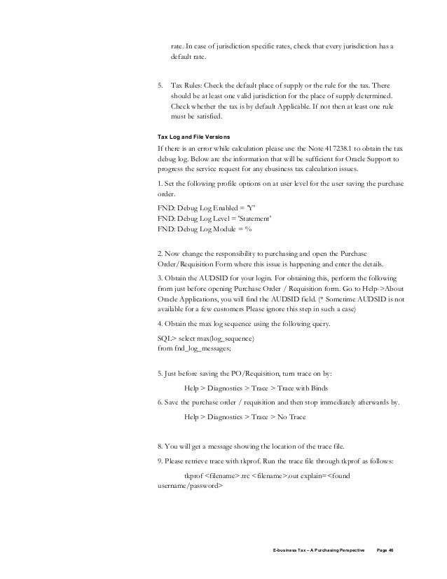Oracle E business tax purchasing whitepaper – Standard Purchase Order Form