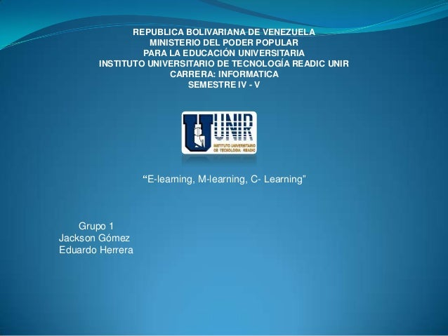 REPUBLICA BOLIVARIANA DE VENEZUELAMINISTERIO DEL PODER POPULARPARA LA EDUCACIÓN UNIVERSITARIAINSTITUTO UNIVERSITARIO DE TE...