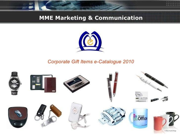 MME Marketing & Communication Corporate Gift Items e-Catalogue 2010