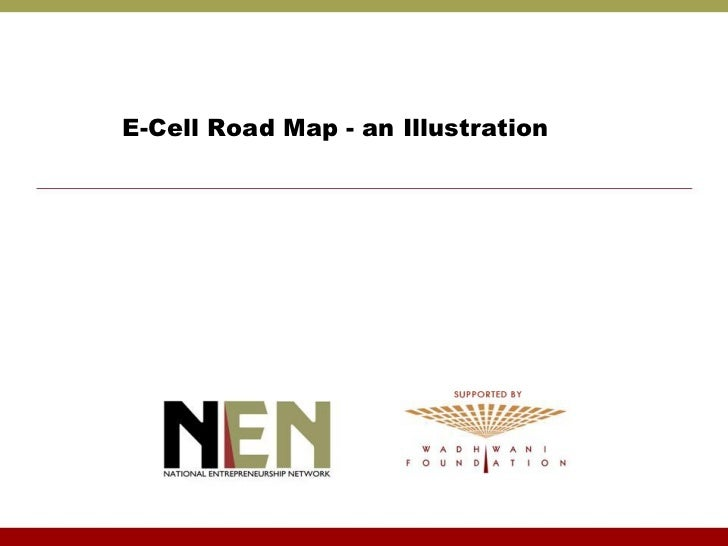 E-Cell Road Map - an Illustration