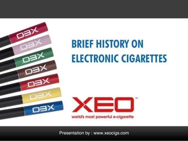 Brief History on E-cigarette