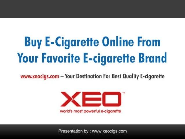 Buy E-cigarette From Your Favorite Electronic Cigarette Brand XEOCIGS.COM