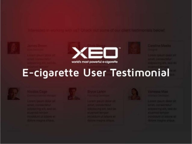 XEO CIGS Review by E-cigarette Users