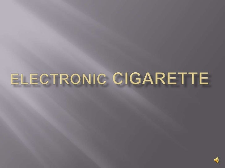 Electronic Cigarette<br />