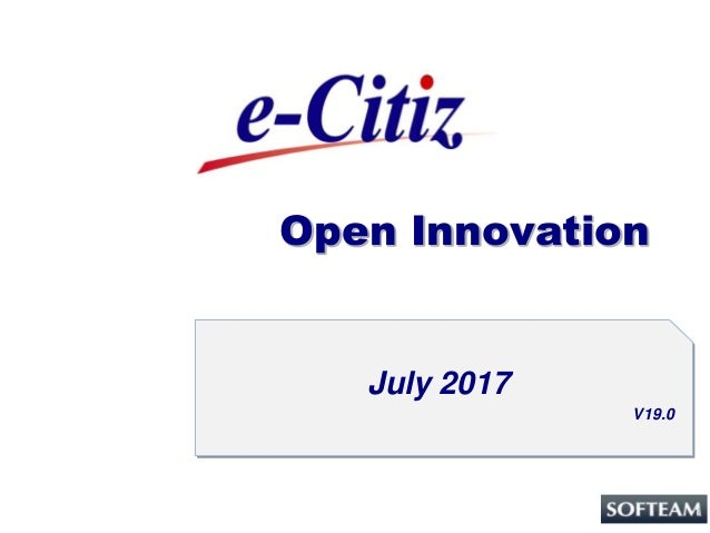 1 Open Innovation July 2017 V19.0