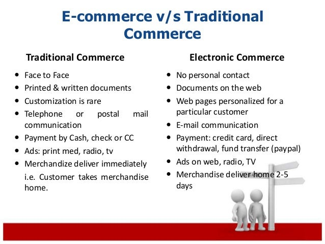 e commerce vs traditional commerce It is worth going back to the basics of traditional commerce to better understand  e-commerce and be confident in having all the elements.