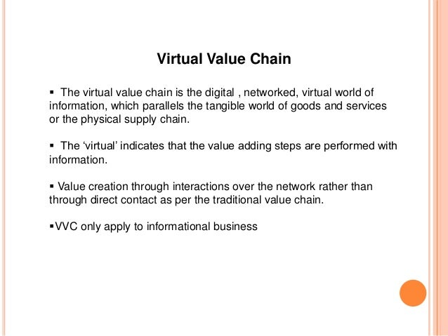 Value Chains: Real or Virtual?