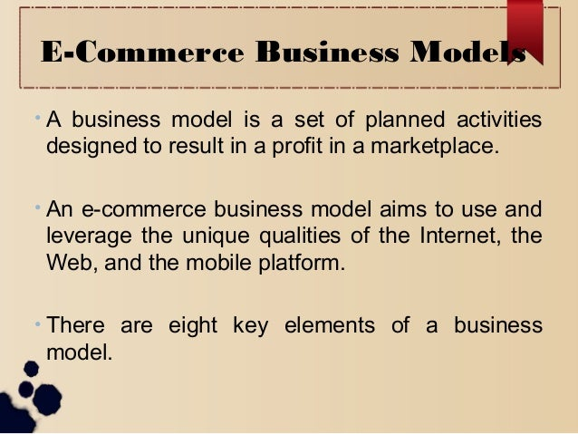 Chapter Two E commerc business model Slide 2