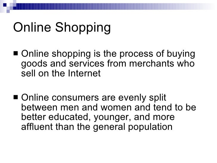 essay on-line shopping