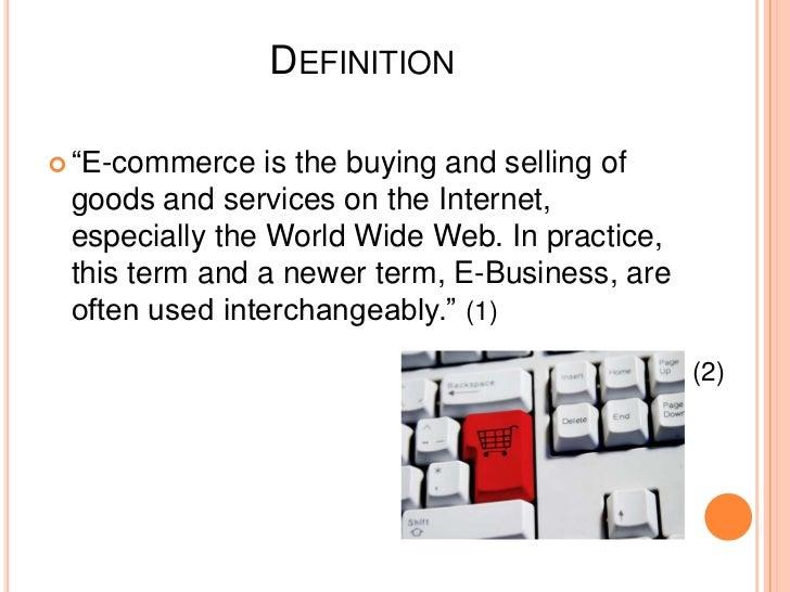 INTRODUCTION TO E-COMMERCE E-Commerce Concepts