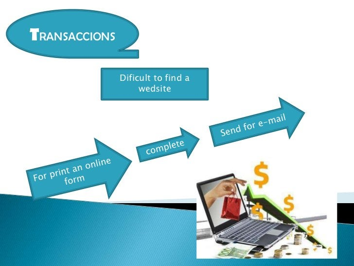 TRANSACCIONS               Dificult to find a                    wedsite
