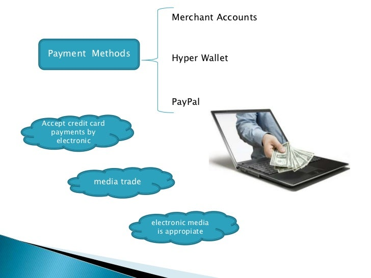 Merchant Accounts Payment Methods                 Hyper Wallet                                 PayPalAccept credit card  p...