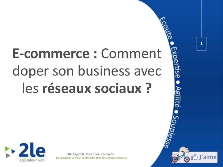 <ul>E-commerce:  Comment doper son   business  avec les  réseaux sociaux ? </ul>