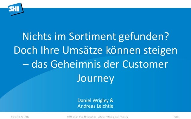 Daniel Wrigley & Andreas Leichtle Stand: 10. Apr. 2015 © SHI GmbH & Co. KG Consulting • Software • Development • Training ...