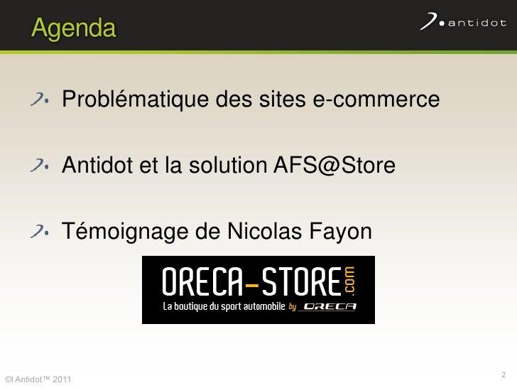 Améliorez le taux de transformation de votre site marchand avec AFS@Store ! Slide 2