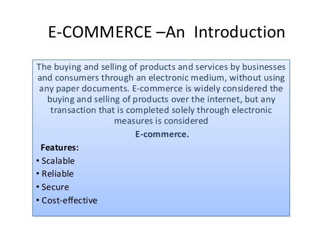 E Commerce And Its Applications