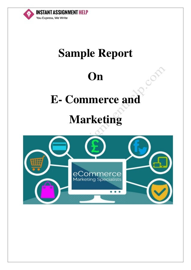 Sample Report On E- Commerce and Marketing