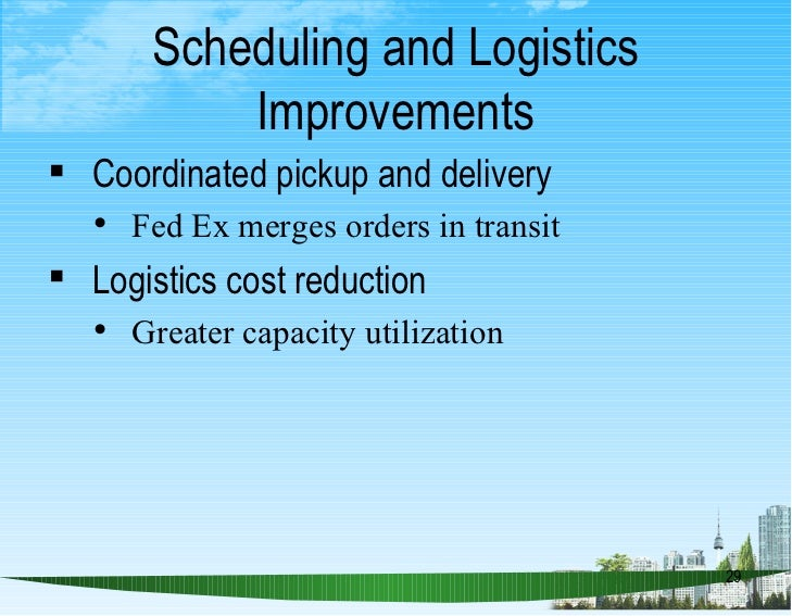 fed ex and operations management essay This analysis of the corporate strategy of fedex corporation relates to three   strategy - creating an effective supply chain management.