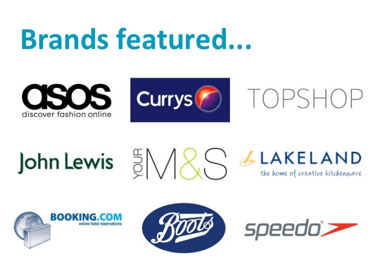 Brands featured...