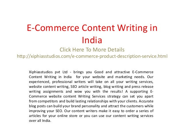Content writing assignments india