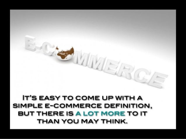 E-commerce Definition