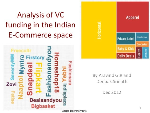 Analysis of VCfunding in the Indian E-Commerce space                                           By Aravind G.R and         ...