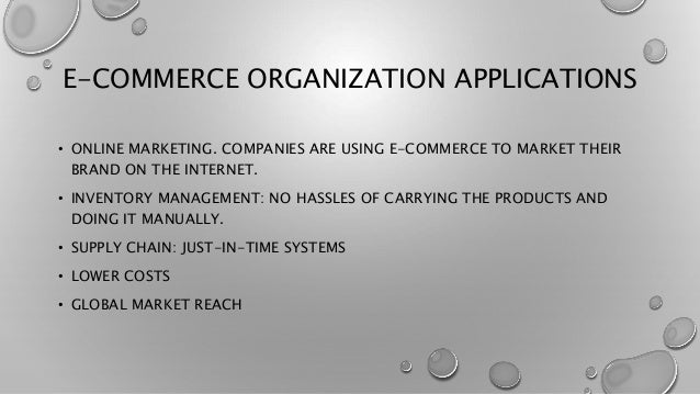 "an introduction to the many elements of e commerce business E-business involves several major components:terri c albert and william b   thomas wailgum and ben worthen, ""supply chain management definition and   for small business, many small businesses also look to e-commerce for their ."