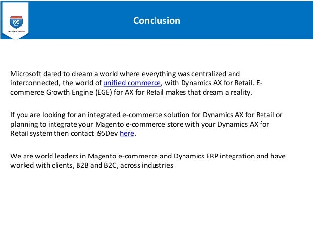 Ecommerce For Dynamics Ax For Retail Setting Base For