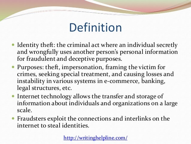 e commerce identity theft 2 definition iuml130151 identity theft