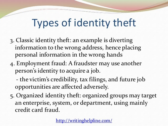 e commerce identity theft 6 types of identity theft